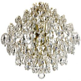 Modern Style Crystal Chandelier: Polished brass and crystal (49cm/19.3 inches)
