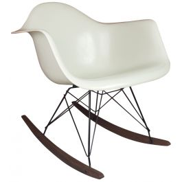 EAMES HERMAN MILLER RAR ROCKING CHAIR IN WHITE