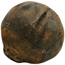 Antique Leather Medicine Ball with Great Vintage Patina