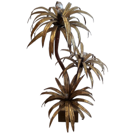 Vintage Palm Tree Floor Lamp by Maison Jansen