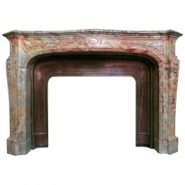 18th Century French Louis XV Style Marble Fireplace Mantel