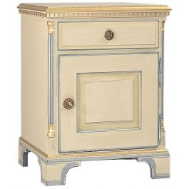 Gustavian Bedside Cabinet with Xoor