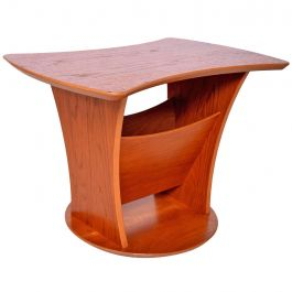 Danish Modern Teak Side Table with Magazine Holder