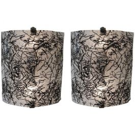 Monochrome Abstract Murano Wall Sconces