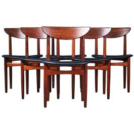 Mid-Century Danish Rosewood Dining Chairs by Kurt Østervig for KP Møbler, Set of 6