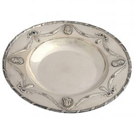 Antique Sterling Silver Low Bowl