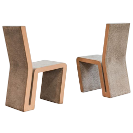 A PAIR OF 'EASY EDGE CHAIRS' BY FRANK O. GEHRY (B. 1929)