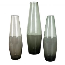 Vintage 1960s Set of Three Turmalin Vases by Wilhelm Wagenfeld for WMF, Germany