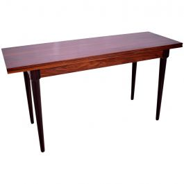 Rosewood and Macassar Console Dining Table