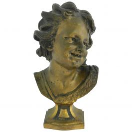 19th Century French Bronze Bust Statue