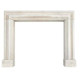 English 19th Century Bathstone Bolection Fireplace Mantel
