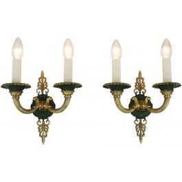 French Empire Revival Wall Lights Early 20Th Century