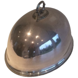 SILVER PLATED CLOCHE. END OF 19TH CENTURY