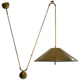 Counterbalance Brass Pendant 'Keos' with Side Weight by Florian Schulz