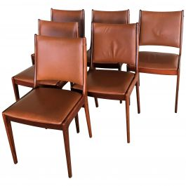 1960s Set of Six Johannes Andersen Rosewood Dining Chairs, Inc. Reupholstery