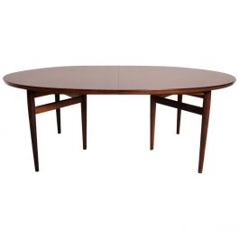 Midcentury Danish Modern Rosewood Oval Dining Table by Arne Vodder for SIBAST