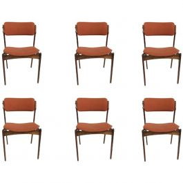 1960s Erik Buch Set of Six Rosewood Dining Chairs by Oddense Maskinsnedkeri