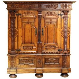 Austrian Baroque Two Door Wardrobe Cabinet