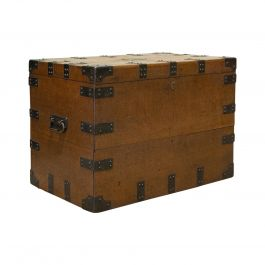 Antique Sliver Chest, English, Oak, Iron, Trunk, Elkington and Co, circa 1880