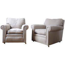 Pair of Country House Armchairs