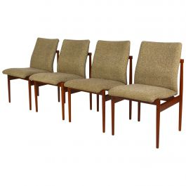 Set of Four Teak Dining Chairs by Thereca, 1960s