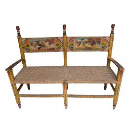 Medieval Motif Arts and Crafts Bench