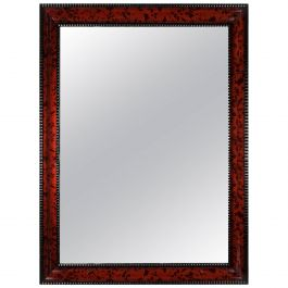 Mid-19th Century Red Tortoiseshell Mirror of Large Scale