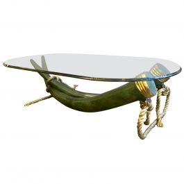 Large Bronze Tusk Coffee Table by Valenti