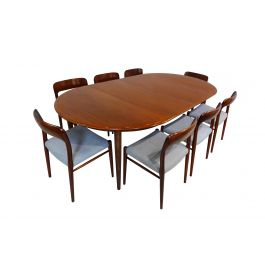 Danish Mid century teak dining set by Niels Otto Moller