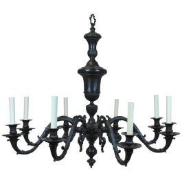 Large Bronze 17th Century Style Chandelier