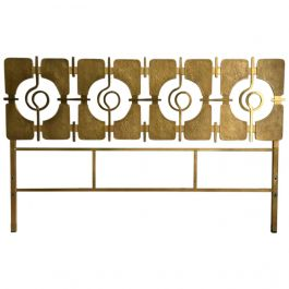 Sculptural Brass Headboard by Luciano Frigerio, Italy, 1960s