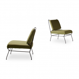 A Rare Pair of Low Chairs by Gastone Rinaldi for RIMA