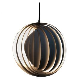 1960s Danish Original Mid-Century Moonlight Pendant by Verner Panton