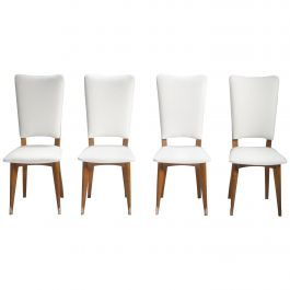 Set of Four Midcentury Scandinavian Teak Chairs, 1960s