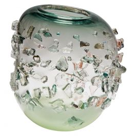 Sakura TRP19010, a Glass Vase in Green with Mixed Colors by Maarten Vrolijk