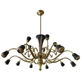 Italian Fourteen Arm Brass Chandelier