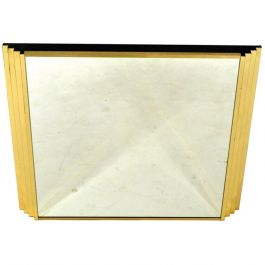 Italian Modern Stepped Edge Mirror