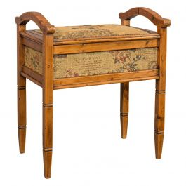 Antique Music Locker Stool, English, Pine, Piano, Bench, Edwardian, circa 1910