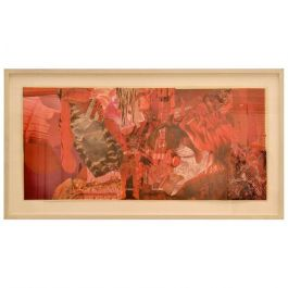 Abstract Collage Art in Tones of Red by Bill Allan, UK, 1993