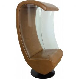 Mid Century Glass Sided Swivel Chair
