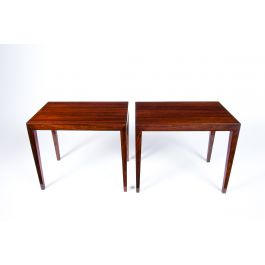A Pair of Danish Rosewood Coffee Tables by Severin Hansen For Haslev, 1960's