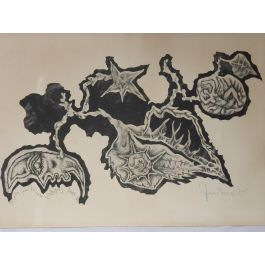 Jean LurcatJean Lurcat Lithograph Dedicated and Hand Signed by the artist 1964 unframedc1964