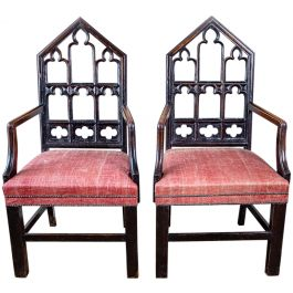 A pair of Gothick armchairs