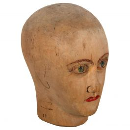 Turn of the Century Wigmakers Head