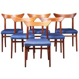 Danish Teak Dining Chairs by Kurt Østervig, 1960s, Set of 6