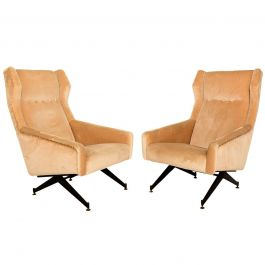 Pair of Sculptural Italian Armchairs