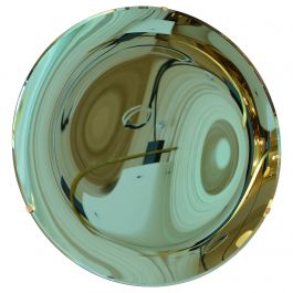 Coloured Glass Concave Mirror in Green