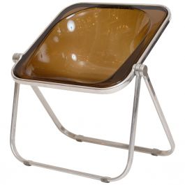 Plona Folding Lucite and Chrome Chair for Castelli, circa 1969