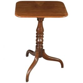 Antique English Tilt-Top Mahogany Wine Table, Georgian, Early 19th Century