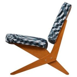 Scissor Lounge Chair Model FB18 by Jan Van Grunsven for Pastoe